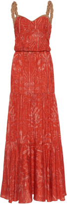 Johanna Ortiz Uncertainty Principles Printed Jacquard Maxi Dress
