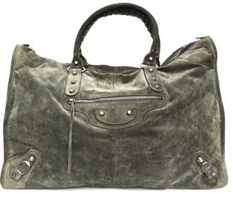 Balenciaga Weekender Green Suede Travel bags