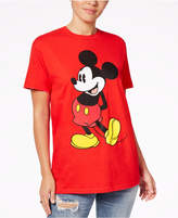 Hybrid Juniors' Cotton Mickey Mouse Graphic T-Shirt