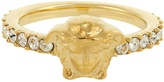 Versace Medusa crystal-embellished ring