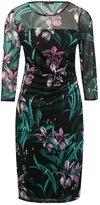 M&Co Mesh floral print dress