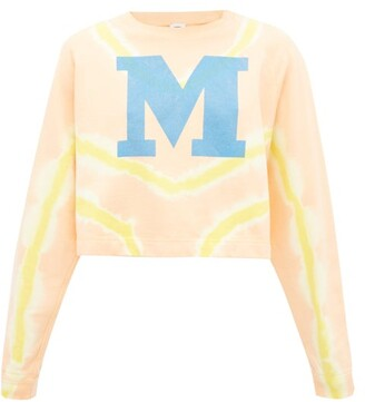 M Missoni M-logo Tie-dyed Cotton Sweater - Orange Multi