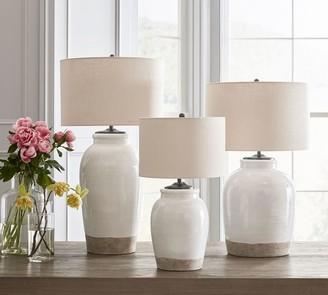 Pottery Barn Miller Ceramic Table Lamp Base, Ivory