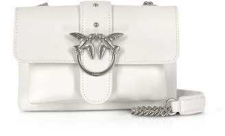 Pinko White Love Soft Baby Simply Shoulder Bag