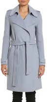 Badgley Mischka Women's Alexis Double Face Wool Blend Long Wrap Coat