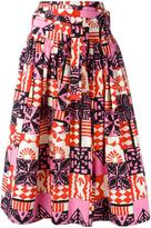 Marc Jacobs printed gathered skirt - women - Cotton/Spandex/Elastane - 8