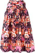 Marc Jacobs printed gathered skirt
