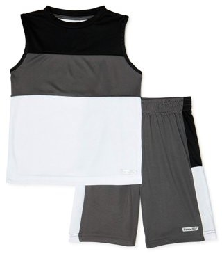 Hind Boys Muscle T-Shirt and Shorts 2-Piece Active Set, Sizes 4-7