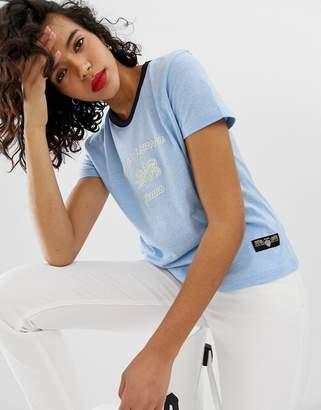 Tiger of Sweden Jeans logo college t-shirt-Blue
