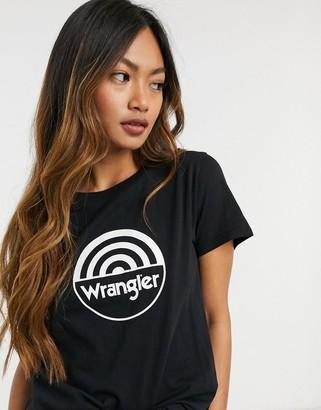 Wrangler circle logo t-shirt in black