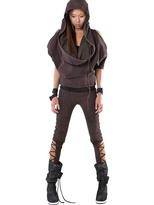 Rusty Demobaza - Hooded Cotton Fleece Jumpsuit