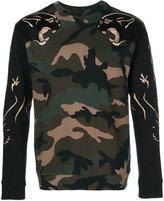 Valentino Panther Print Cotton Sweatshirt