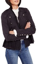Free People Women's Ruffle Hem Military Jacket