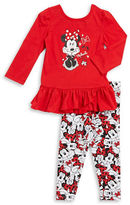 Nannette Girls 2-6x Minnie Mouse Top and Leggings Set