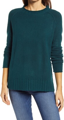 Caslon Cozy Rolled Crewneck Sweater