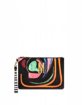 Moschino M Clutch Woman Multicoloured Size U It - (one Size Us)