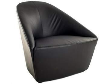 Urban 9-5 Barrel Chair Urban 9-5 Upholstery: Black
