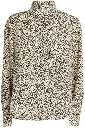 Frame Leopard Print Long-Sleeved Shirt