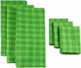 JCPenney JCP Plaid Set of 6 Kitchen Towels and Dish Cloths