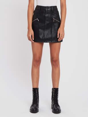 Paige Aideen Denim Mini Skirt