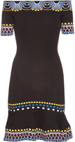 Peter Pilotto Geometric-knit off-the-shoulder dress