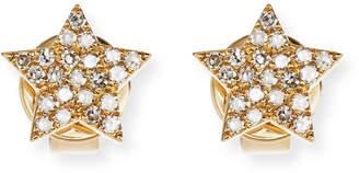 Ef Collection Pavé Diamond 14K Gold Star Stud Earrings