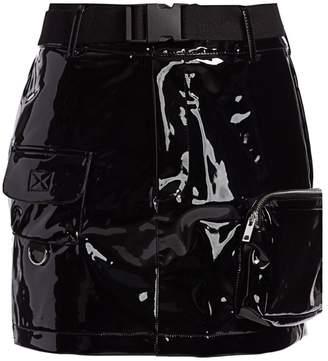 I.AM.GIA Edam Snap-Buckle Patent Skirt