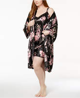 Thalia Sodi Plus Size Floral-Print Wrap Robe, Created for Macy's