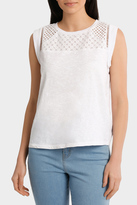 Tee Cap Sleeve with lace yoke details