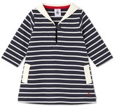 Petit Bateau Baby girls dress with sailor collar