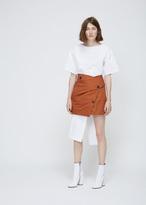Proenza Schouler tobacco wrap skirt