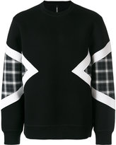 Neil Barrett geometric panelled sweatshirt