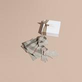 Burberry Check Cashmere Three-piece Gift Set