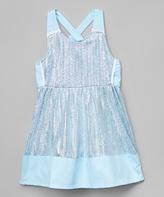 KensieGirl Silver Sparkle A-Line Dress - Girls