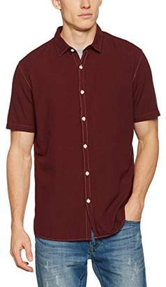 Casual Shirt Company Men's Berry Linen Short Sleeve Regular Fit Casual Shirt