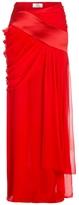Prabal Gurung Chiffon Drape Evening Skirt