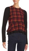 Romeo & Juliet Couture Ruffled Plaid Top