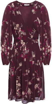 Joie Korel Wrap-effect Printed Silk-chiffon Dress