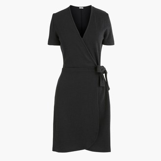 J.Crew Textured knit wrap dress
