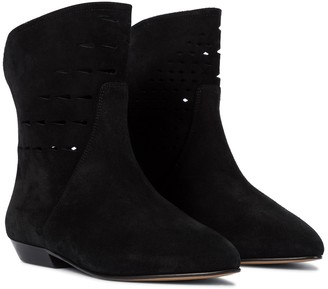 Isabel Marant Sprati perforated leather ankle boots