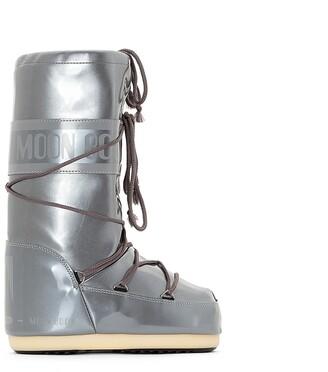 Moon Boot Vinyl Met Fur-Lined Boots