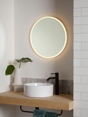 John Lewis & Partners Aura Wall Mounted Illuminated Bathroom Mirror, Round