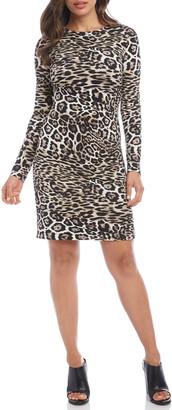 Karen Kane Leopard Print Sheath Dress