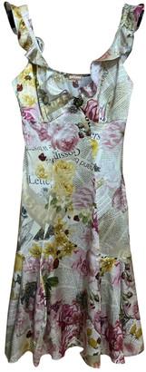 John Galliano Multicolour Silk Dress for Women