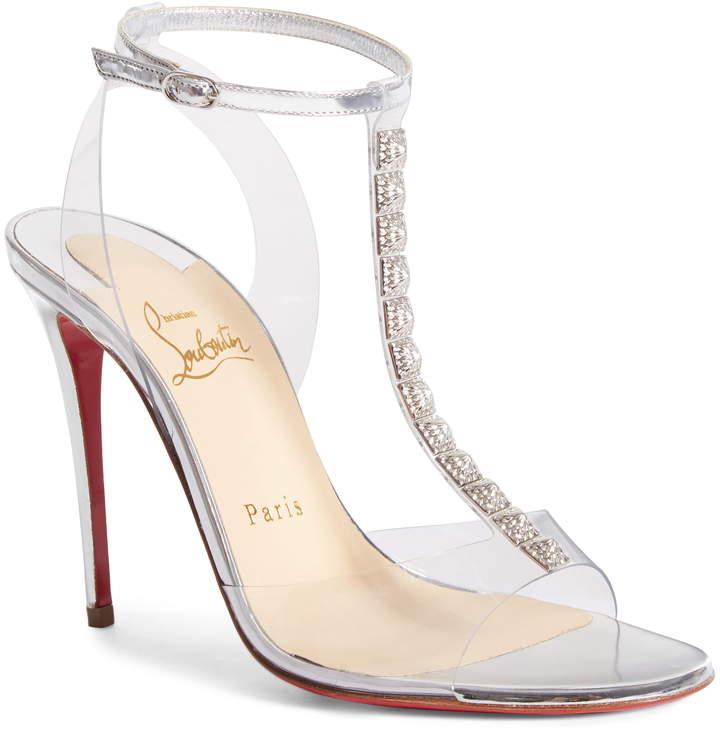 best sneakers b9bc1 11ade Jamais Assez Clear T-Strap Sandal