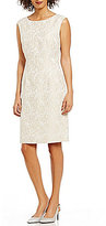 Preston & York Sonia Round Neck Sleeveless Jacquard Sheath Dress