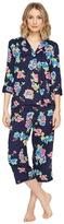 Lauren Ralph Lauren Cotton Rayon Lawn 3/4 Sleeve Pajama Women's Pajama Sets