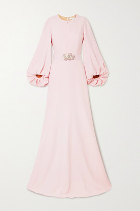Andrew Gn Embellished Crepe Gown - Pastel pink