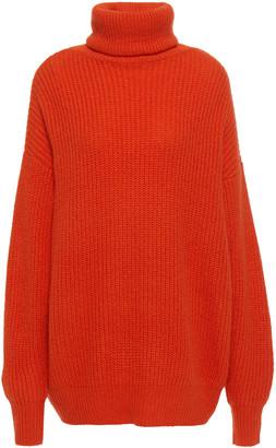 Autumn Cashmere Oversized Ribbed Cashmere Turtleneck Sweater