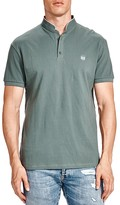 The Kooples Mandarin Collar Piqué Slim Fit Polo Shirt